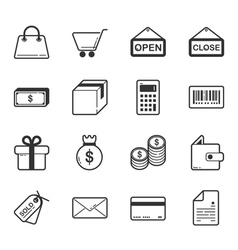 Set of shopping and e-commerce icons vector