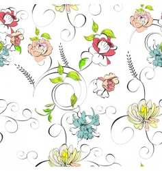 stylized seamless wallpaper vector image