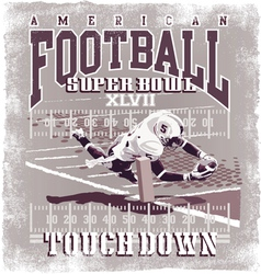 Touchdown american football vector