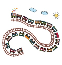 train pattern vector image