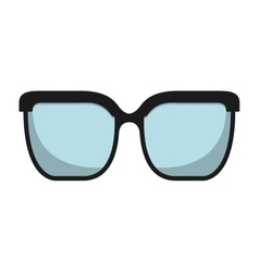 Glasses view wear icon vector