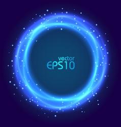 Abstract blue glowing circle vector image