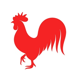 Rooster Symbol of New Year 2017 vector image