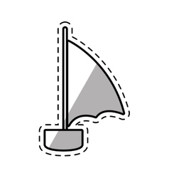 Sailboat recreation travel shadow vector