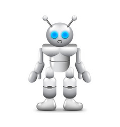 Robot with two antennas isolated on white vector
