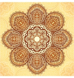 Ornate vintage flower napkin background vector