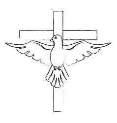 Holy spirit cross catholicism sacredness vector