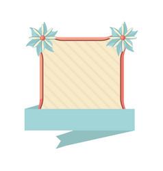 label flower ribbon decoration template vector image