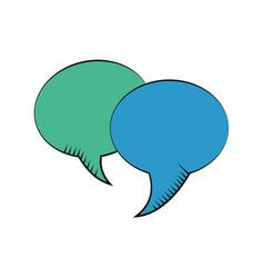 Bubble speech dialog communication vector