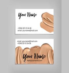 Makeup artist business card template vector