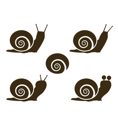 Set of snail icon and signs vector