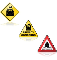 Privacy concerns vector image