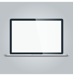 Mac book air on white background macbook pro vector