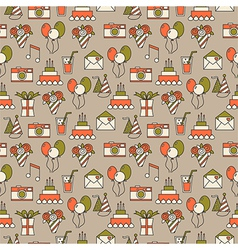 Seamless holiday pattern festive background vector