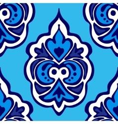 Luxury Damask flower seamless pattern vector image