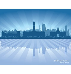 Bradfort england skyline with reflection in water vector