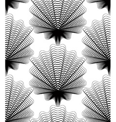 Black and white abstract seamless pattern with vector image