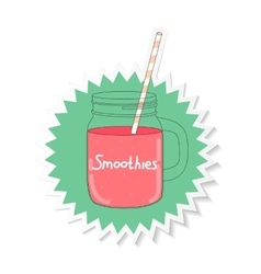 Fresh smoothie healthy food vector