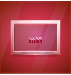 Glass screen background vector