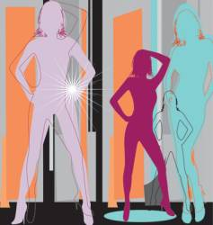 Artistic women vector