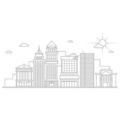 Big city business center skyscrapers megapolis vector image