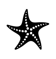 black simple starfish icon vector image