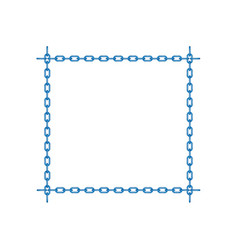 Blue chain in shape of square vector