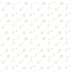 Cakes seamless pattern white colors vector image vector image