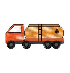 Color blurred stripe truck transporter of fuel vector
