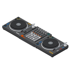 Dj mixer isometric view vector