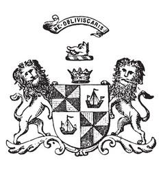 Duke of argyll created in the peerage of scotland vector