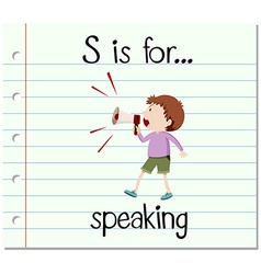 Flashcard alphabet s is for speaking vector