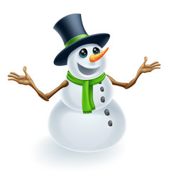 Fun christmas snowman vector