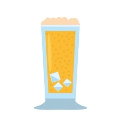 Glass cup drink foam ice vector