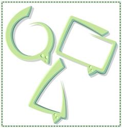 Green speech bubble with a frame - vector image vector image