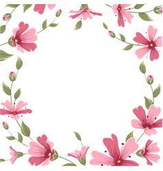 Gypsophila babys breath flower border frame wreath vector