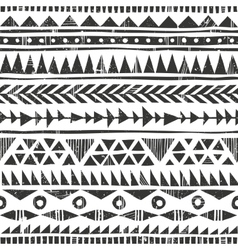 hand drawn tribal print Primitive vector image vector image