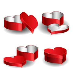 Heart shaped box set vector image