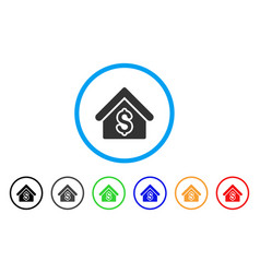 house rent rounded icon vector image