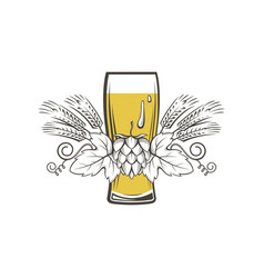 Image of beer glass vector