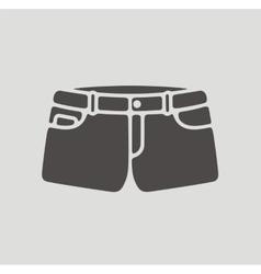 Jean shorts icon vector image vector image