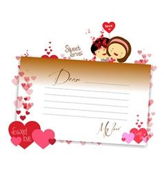 Letterhear for valentines brown vector