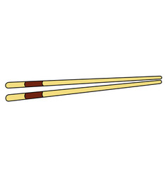 Pair of chopsticks vector