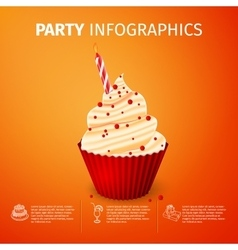 Party infographics vector
