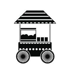 Popcorn cart black simple icon vector