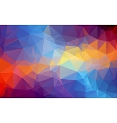 Shades of blue and orange abstract polygonal vector image vector image