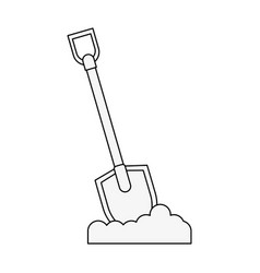 Shovel tool icon image vector