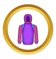 Snowboarder jacket icon vector