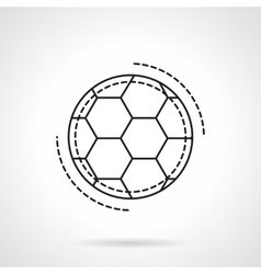 Soccer ball flat line design icon vector image