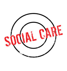 Social care rubber stamp vector